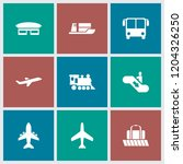 passenger icon. collection of 9 ... | Shutterstock .eps vector #1204326250