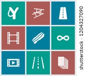 strip icon. collection of 9... | Shutterstock .eps vector #1204327090