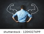 strong businessman  leadership... | Shutterstock . vector #1204327699