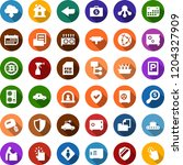 color back flat icon set  ... | Shutterstock .eps vector #1204327909
