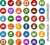 color back flat icon set  ... | Shutterstock .eps vector #1204328020