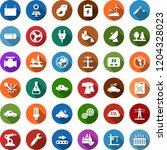 color back flat icon set  ... | Shutterstock .eps vector #1204328023