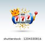 king slots 777 banner casino on ...   Shutterstock .eps vector #1204330816