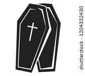 coffin icon. simple... | Shutterstock .eps vector #1204332430