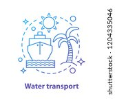 water transport concept icon.... | Shutterstock .eps vector #1204335046