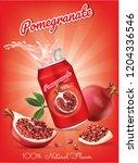 pomegranate juice ads ...   Shutterstock .eps vector #1204336546
