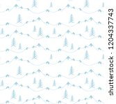 landscape with fir trees and... | Shutterstock .eps vector #1204337743