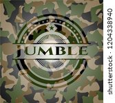 jumble on camouflaged pattern   Shutterstock .eps vector #1204338940