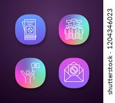 protest action app icons set....