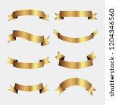 set of golden ribbons vector.   Shutterstock .eps vector #1204346560