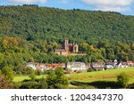 mittelburg castle above town of ... | Shutterstock . vector #1204347370