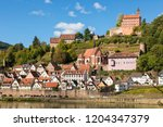 town of hirschhorn on neckar... | Shutterstock . vector #1204347379
