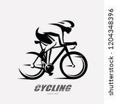 cycling race stylized symbol ... | Shutterstock .eps vector #1204348396