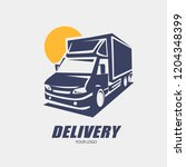delivery and shipping service... | Shutterstock .eps vector #1204348399