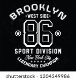 brooklyn   new york city sport... | Shutterstock .eps vector #1204349986