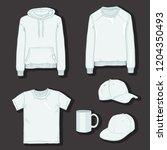 vector set of white items for... | Shutterstock .eps vector #1204350493