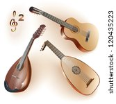 Set Of Musical Instruments Of...