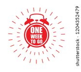 one week to go offer sticker or ... | Shutterstock .eps vector #1204352479