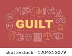 guilt word concepts banner....