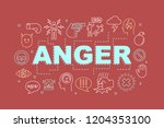 anger word concepts banner.... | Shutterstock .eps vector #1204353100