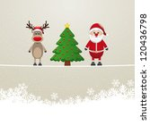 santa reindeer tree on twine... | Shutterstock .eps vector #120436798