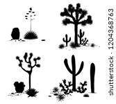 cacti landscape groups. vector... | Shutterstock .eps vector #1204368763