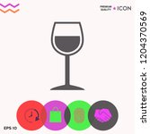 wineglass symbol icon | Shutterstock .eps vector #1204370569