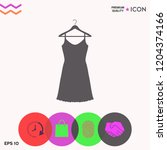 sundress  evening dress ... | Shutterstock .eps vector #1204374166