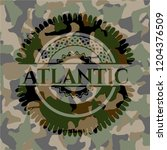 atlantic on camouflaged pattern | Shutterstock .eps vector #1204376509
