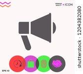 speaker  bullhorn icon | Shutterstock .eps vector #1204382080