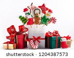 a set of christmas gingerbread... | Shutterstock . vector #1204387573