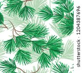 nature seamless pattern. spruce ... | Shutterstock .eps vector #1204387696