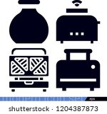 set of 4 food filled icons such ... | Shutterstock .eps vector #1204387873