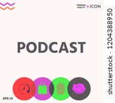 podcast   icon for web and... | Shutterstock .eps vector #1204388950