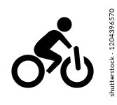 vector bicycle icon  vector... | Shutterstock .eps vector #1204396570