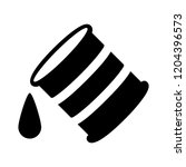 oil barrel icon   vector oil... | Shutterstock .eps vector #1204396573