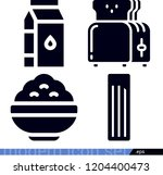 set of 4 food filled icons such ... | Shutterstock .eps vector #1204400473