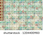 colorful multi effect textile... | Shutterstock . vector #1204400983