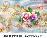 colorful multi effect textile... | Shutterstock . vector #1204401049