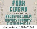 classic vintage decorative font ... | Shutterstock .eps vector #1204401769
