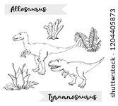 Vector Allosaurus And...