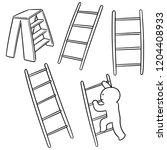 vector set of ladders | Shutterstock .eps vector #1204408933