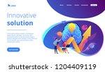 brain  lightbulb and business... | Shutterstock .eps vector #1204409119