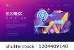 businessman with laptop  target ... | Shutterstock .eps vector #1204409140