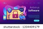 developers work on cyber... | Shutterstock .eps vector #1204409179