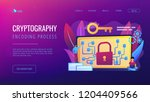 cryptographic officer and... | Shutterstock .eps vector #1204409566