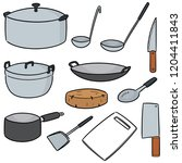 vector set of kitchen tool | Shutterstock .eps vector #1204411843