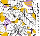 tropical  modern stripes motif. ...   Shutterstock .eps vector #1204413376