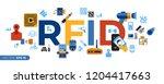 digital vector rfid radio... | Shutterstock .eps vector #1204417663