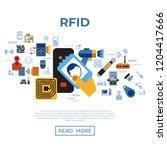 digital vector rfid radio... | Shutterstock .eps vector #1204417666